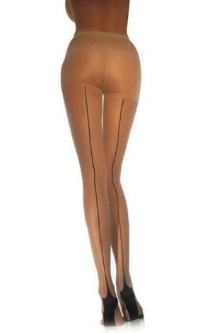 retro style back seam pantyhose