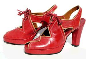 remix vintage 1940s style shoes