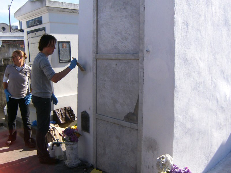 Marie Laveau's Grave being restored