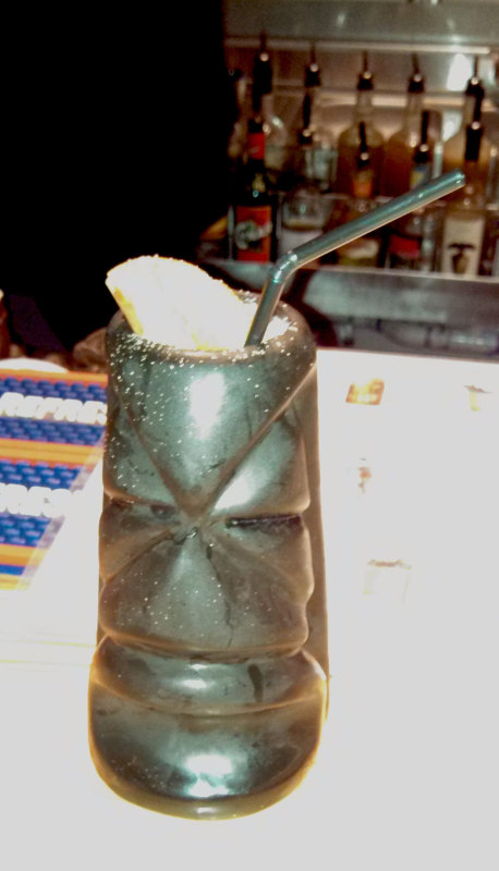 The What an aspirin is drink at Tiki Tolteca, New Orleans