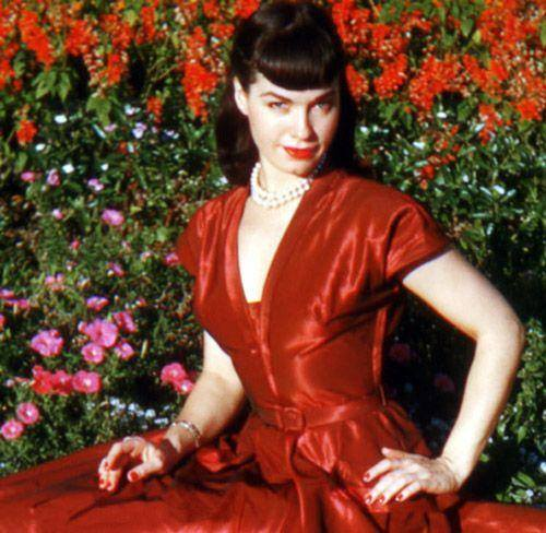 Bettie Page red dress