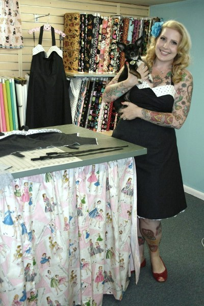 Beth poses with the adorable little Rutti. Can you spot the new dress in the background?