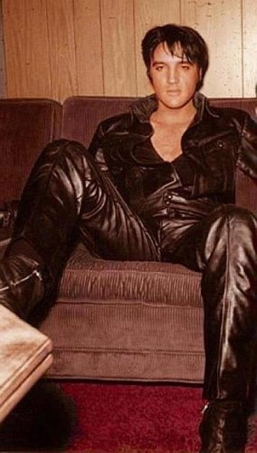 Elvis in leather suit. 1966 comeback special