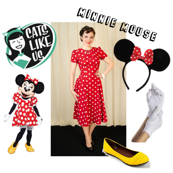 Retro Halloween costume. Mickey Mouse. Cats Like Us