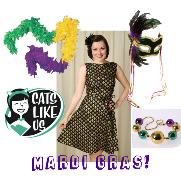 Heart of Haute Fleur di Les dress. Mardi Gras. Retro style dress