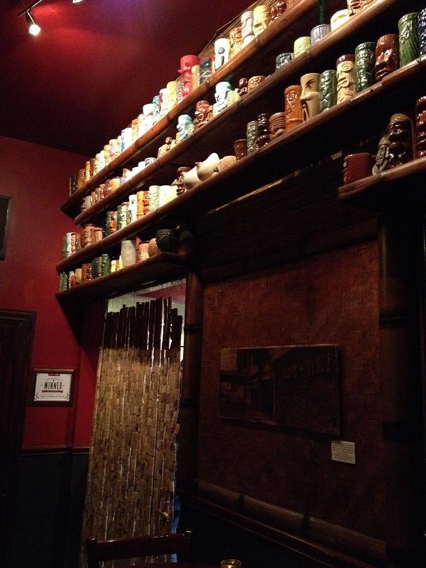 Porco Lounge and Tiki Room Tiki mug collection.
