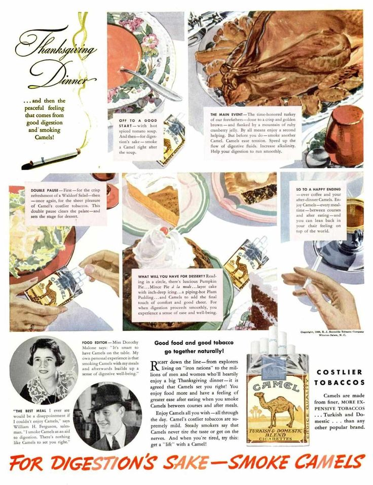 retro thanksgiving ad Camel cigarettes