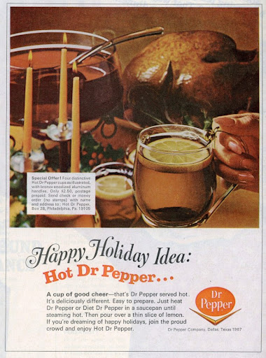 retro thanksgiving ad hot Dr. Pepper