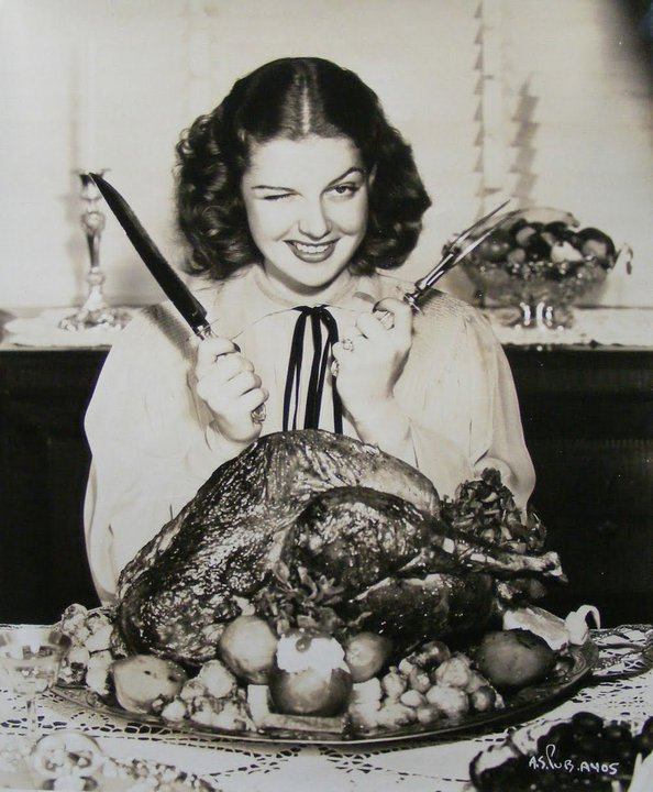 Rita Hayworth Thanksgiving