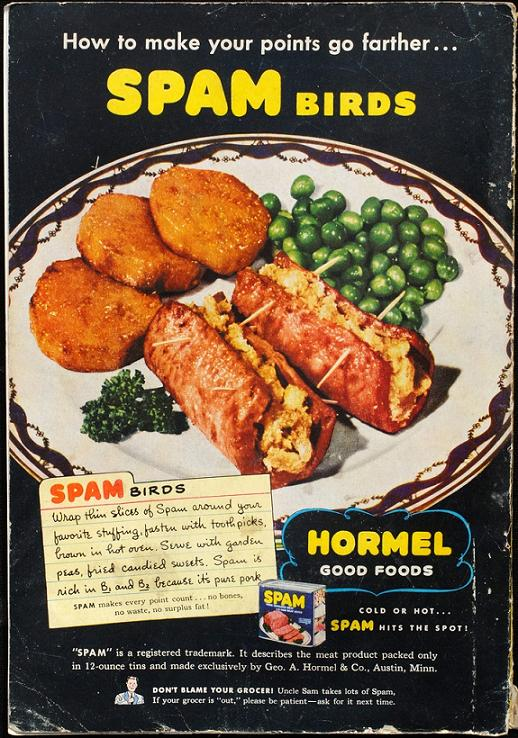 SPAM thanksgiving retro ad