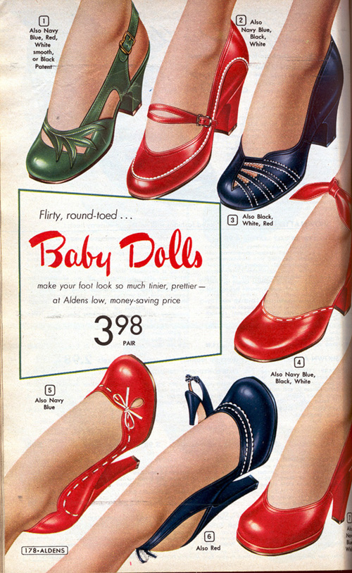 round toed retro shoes