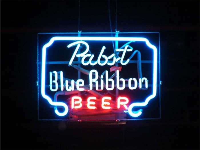 Pabst Blue Ribbon Beer Neon Sign