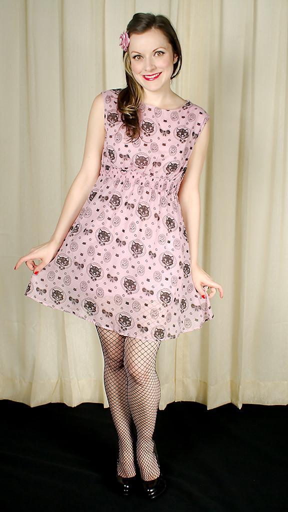 Sourpuss Clothing's Chiffon Hey Kitten Mini Dress