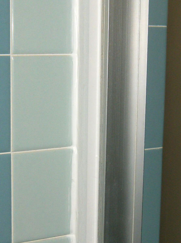 Save the blue bathroom, retro remodel shower