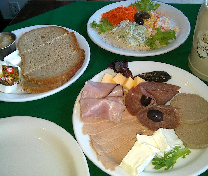 Food at The Rheinblick. Canandaigua, NY