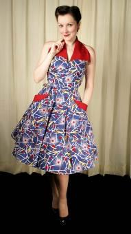 Trashy Diva 50s style dress with collar