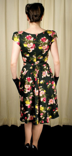 trashy diva sophia 5th ave floral dress - behiand has gathers