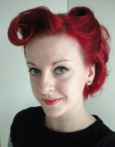 Victory Rolls are a very popular retro hairstyle. Pinup hair.