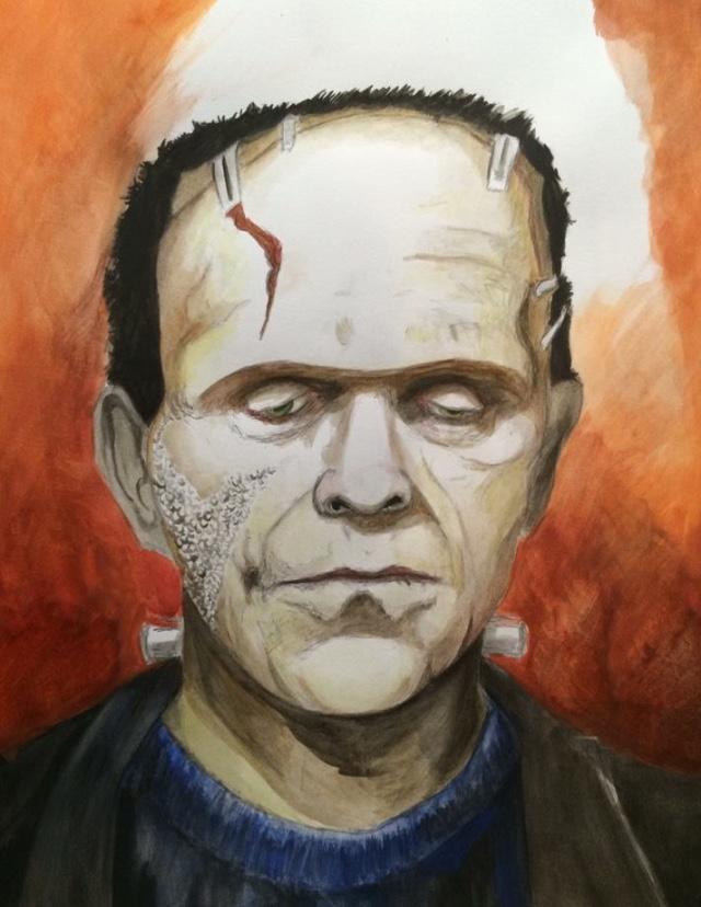 Boris Karloff Frankenstein. Monster Matt Patterson. Artist.