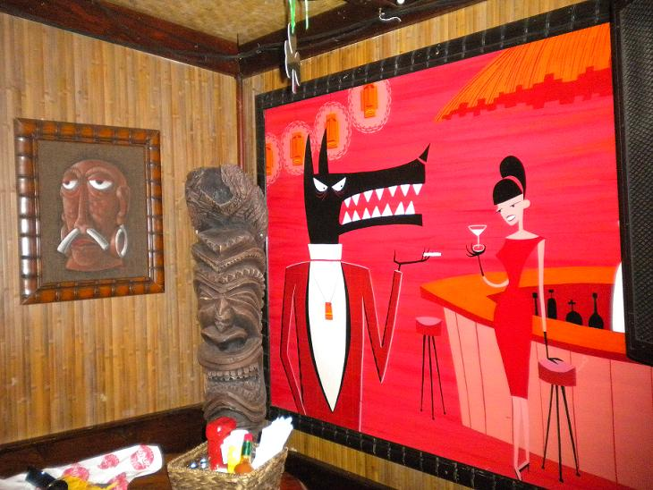 Shag Art on the wall at Waitiki Tiki bar