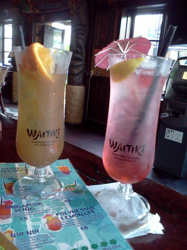 drinks at Waitiki in Orlando, FL