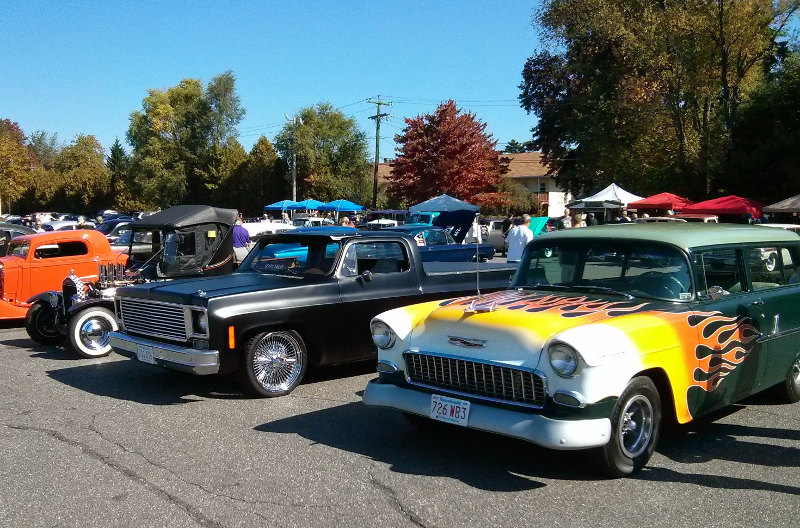 The New England Shake-up car show in the main lot at The Sturbridge Host.