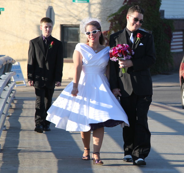 rat bastard rockabilly and sweet pe on their wedding day