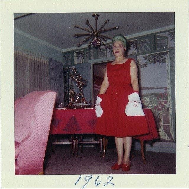 retro christmas santa dress