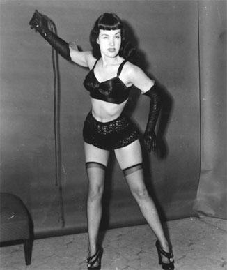 Bettie Page pin up with whip