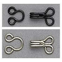 hook and eye closures