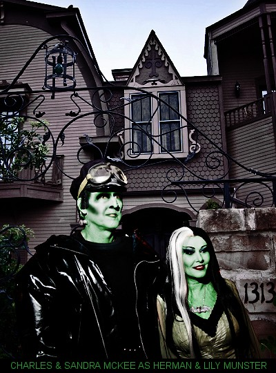 The real life replica of the Munsters Mansion, located near Dallas, TX