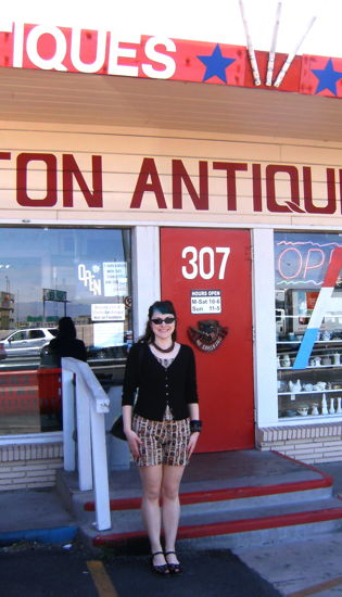 Julie Ann at the charleston antique mall