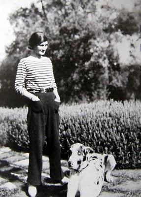 Coco Chanel and her dog Rinko the Great Dane.