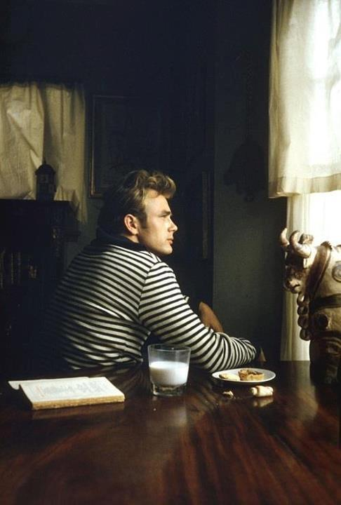 James Dean in black and white stripes. He gets it.