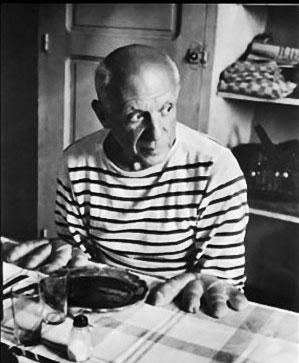 Pablo Picasso and Marilyn Monroe.