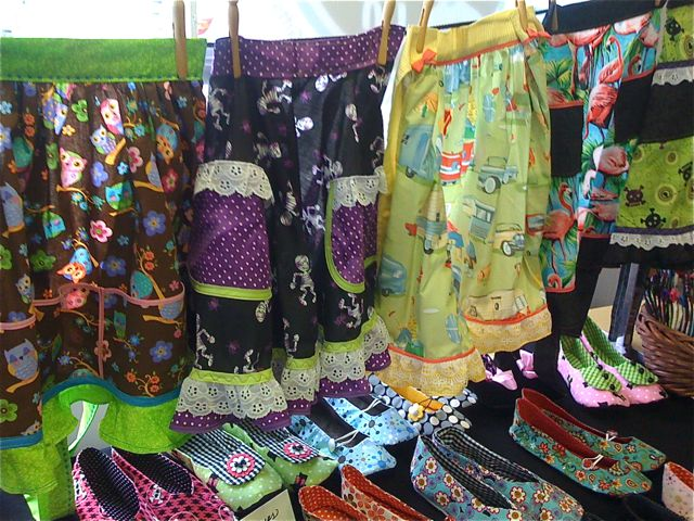 Warning trunk show featuring Leslies Retro aprons